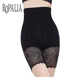 Mutandine di sicurezza delle mutandine delle donne di ROPALIA Pantalone delle mutande di cura delle ragazze Controllo della cura del corpo elastico Dimagrante Vita alta Slip in pizzo Intimo da