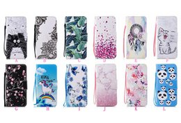 Wholesale note cartoon covers - Flower Lace Butterfly Leather Wallet Case For Galaxy S9 Plus S8 A8 2018 Note 8 Heart Love Cat ID Card Slot Flip Cover Pouch Cartoon Holder