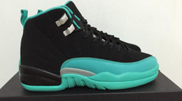 Wholesale Real Green Jade - AAAAA Retros 12 GS Hyper Jade Basketball Shoes,Women and Big Kids,Real Carbon Fibre XII Sports Shoes,Size 36-40,Free Shipping