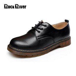 sapatas de trabalho ocasionais do preto dos homens Desconto Unisex 2018 Botas de Couro Genuíno Dos Homens Casuais Homens Negros Botas Homens Dr Martins Homens Sapatos de Segurança do Trabalho Sapatos Plus Size 35-46