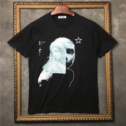 Wholesale Mens Top Designer Brands - 2018 Luxury brand Mens T-shirts Men Short Sleeve Casual tshirt Mens Graffiti image pentagram printing Designer T Shirt Cotton Tee Tops