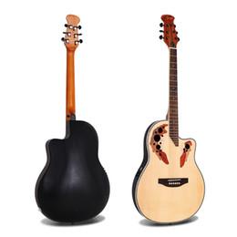 nova guitarra elétrica slash Desconto 41 polegada caixa elétrica folk guitarra de volta de plástico duplo uva buraco guitarra Spruce guitarra acústica de corda de aço