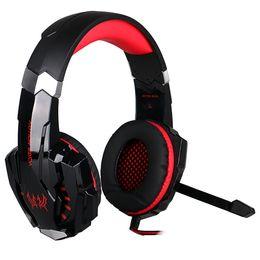 Auriculares cada online-Gaming Headphone para PS4 Laptop Tablet Teléfonos móviles KOTION EACH G9000 3.5mm Game Headset Auriculares Diadema con micrófono LED Luz