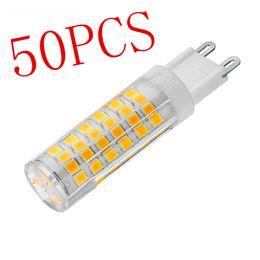 Wholesale Cree Light Bulbs Sale - DHL 50PCS Hot Sale Super Bright G9 LED Lamp AC220V 4W 5W 7W Ceramic SMD2835 LED Bulb replace 30W 40W 50W Halogen light for Chandelier