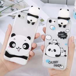 3D Soporte lindo China Panda Case para iPhone 5 5s SE X para iPhone 6 6s 7 Plus Volver cubierta del teléfono Cartoon Scrub para iPhone 8 Plus desde fabricantes