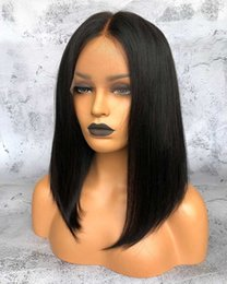 Wholesale European Lace Wig Human Hair - Diosa human hair wigs for black women Middle Part Bob Style Wigs Lace Front Shoulder length Pre-plucked Natural Hairline Full Lace Wigs