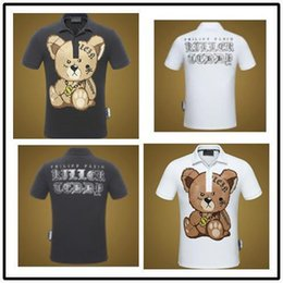 Wholesale Collar Bear - Explosions Summer New Luxury Top Designer Letter Bear Print Casual Personality T-shirt For Men Cotton