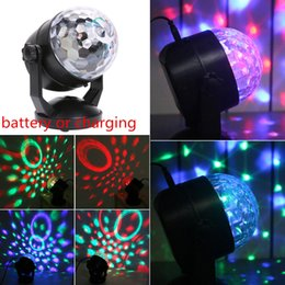 Canada 6W mini boule de cristal led scène ventouse 110v-220v Disco Laser Light Party lumières son contrôle de Noël Projecteur Laser cheap crystal ball christmas lights Offre