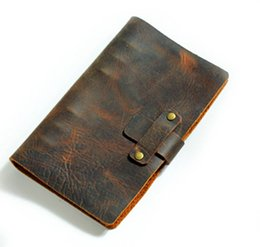 Wholesale A5 Journal - Passio Handmade Refillable Leather Travelers Journals Diary genuine leather notebook diary notepad notebook handmade A5 22*17cm
