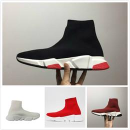 best service f1918 b8bbd fuori alta qualità a buon mercato originale 2018 donne uomini calzino  scarpe da corsa nero bianco rosso velocità allenatore sportivo sneakers Top  scarpe ...