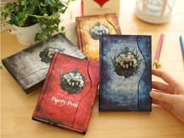 Wholesale Books House - Wholesale Wedding Favors Harry Potter Retro Magic Travelling Diary Book Notepads Magnet Notebook Fans Collection Best Gift For Kids Students