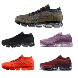 Wholesale womens air - Vapormax Running Shoes Mens Womens Classic Outdoor Shoes Air Black White Sports vapormax chaussure Disigner Shoes Athletic Sneakers