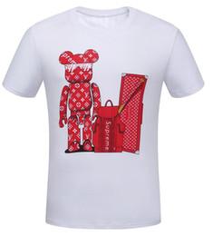 Más el tamaño de marca camisetas online-2019 Nuevo Algodón puro Marca corta Camiseta Hombre mujer camiseta de gran tamaño Slim Fit Moda Camiseta impresa hombre más el Tamaño S -3XL