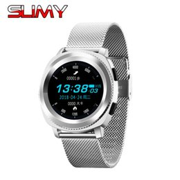 heart gears Promo Codes - Slimy Smart Watch Support Heart Rate Monitor IP68 Waterproof Smartwatch for Android IOS  Gear S3 Watch PK KW18 DM09 K88H