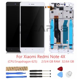 Wholesale Note Screen Parts - For Xiaomi Redmi Note 4X 3GB 32GB LCD Display Frame Touch Screen Panel Redmi Note 4X Snapdragon 625 LCD Display Digitizer Parts