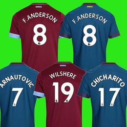 629809c0b1 west ham united WILSHERE CHICHARITO ARNAUTOVIC 18 19 camisas de futebol de  presunto ocidental 2018 2019 Camisa de futebol Antonio Noble west ham united  ...