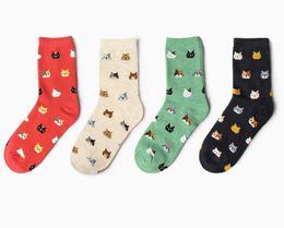 Tubi di animali da donna online-Calze da donna Autunno Nuova Corea Animale creativo Cartoon Cat Serie vita Carino cotone calze coreane tubo medio
