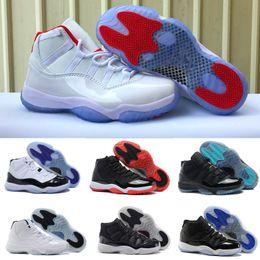 online store 7063d 33051 2018 kobe schuhe frauen Basketball Schuhe 11 11s weiß rot Space Jam  Blackout Gym Red Midnight