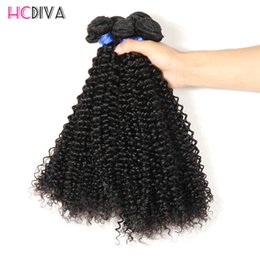 Wholesale Kinky Hair Extensions Products - Brazilian Virgin Human Hair 4 Bundles Kinky Color 100% Unprocessed Virgin Hair Extension Natural Color And Black Wholesale Top Product