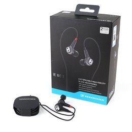 Wholesale high fidelity - Sennheiser IE80S Earphone In Ear earphones Wired High-Fidelity Ear-Canal Headphones Headset with retail box Black Girls Earbuds DHL