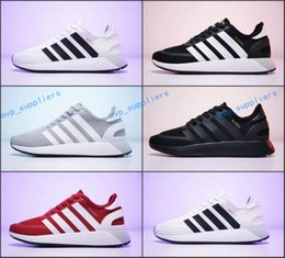 Wholesale I N - 2018 New N-5923 Running Shoes Men Women I-5923 Iniki Runner Boost Sneakers Black White Red Olive Green Mesh Sports Trainers Size 36-44
