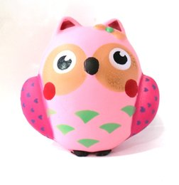 Wholesale Owl Pendant Pink - Squishy Owl Pink 12cm Slow Rising Toys Relieve Stress Cake Sweet Animal PU Cell Phone Strap Phone Pendant Key Chain Toy Gift New design