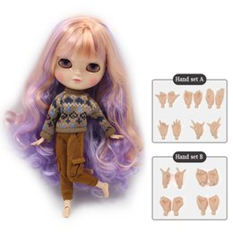 Wholesale Plastic Doll Bodies - NO.7216 2023 136 3139 Cute ICY joint doll articulation body including hand set AB Gift for girls like the Neo blyth doll 30cm