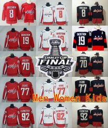 Wholesale hockey hossa - 2018 Stanley Cup Finals Washington Capitals 8 Alex Ovechkin 19 Nicklas Backstrom Jerseys 77 TJ Oshie 92 Evgeny Kuznetsov 70 Braden Holtby