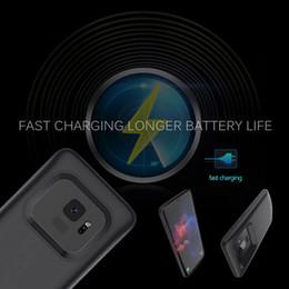 2019 резервный аккумулятор аккумуляторной батареи Power Banks портативное зарядное устройство крышка телефона черный синий золотой цвет зарядное устройство чехол для Samsung S9 plus 5200mAh