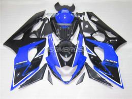 Wholesale Gsxr New Fairings - 4 gifts+Seat cowl New ABS Fairings Kits For SUZUKI GSXR1000 K5 05-06 GSXR 1000 GSX R1000 GSX-R1000 K5 05 06 2005 2006 Fairing black blue