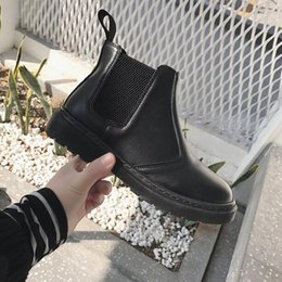 Wholesale New Korean Winter Snow Boots - 2018 NEW ulzzang Korean new British style Martin boots students flat waterproof boots wild snow short boots free shippig