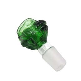 Изумрудная форма онлайн-Изумрудный лягушка форма длина 63 мм / 2.51 дюймов масляная горелка мундштук стекло сопла фитинги коготь мужской совместных стеклянная чаша для бонги водопровод