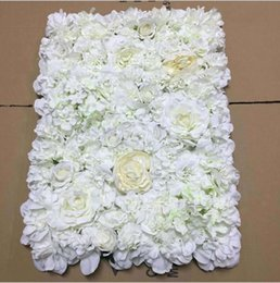 Wholesale cheap wall mounts - Free Shipping Hot Sale Cheap Christams  Festive Party  Wedding Stage Artificial Befutiful Silk Flower Wall Backdrop Decorative Flower