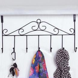 Canada 7 crochets alliage derrière la porte pendaison crochet manteau chapeau serviette Hange polyvalent vêtements cintre organisateur porte crochets rack de stockage à la maison cheap hanging clothes storage rack Offre