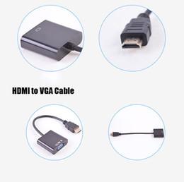pc anzeigen ports Rabatt 1080p HDMI zu VGA Konverter Audio Video Kabel DP Display Port Stecker auf VGA Buchse Konverter Adapter Kabel 100 Stücke Mit Opp Paket STY078