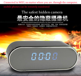 ip tables Coupons - New Table Clock Camera Alarm Setting HD 1080P Mini Camera Mini DV DVR IR Night Vision Wifi IP Clock Camcorder Wifi Cam