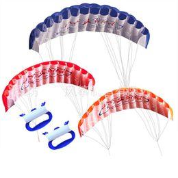 Wholesale toy free wheels - 1.4m Power Double Line Software Kite Kids Outdoor Toys Skeleton Free Portable Children Beach Kites With Handle 27hd WW