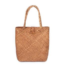 Women rattan Handbags Shopping Bags 2018 Beach Bag for Summer Big Straw Bags  Handmade Woven Tote bag Luxury Designer sac a main 8ca292a76acb1