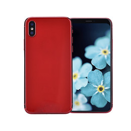 Wholesale video specials - Red Goophone X Special Edition Face ID 3G WCDMA Quad Core MTK6580 1GB 8GB+32GB Android 7.0 5.8 inch All Screen GPS 8.0MP Camera Smartphone