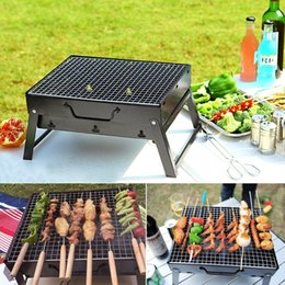 Wholesale Galvanizing Steel - Charcoal BBQ Grill Folding Portable Stainless Steel Barbecue Grill for Outdoor Camping Cookouts