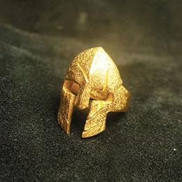 Großhandel 2018 New Spartan Helm Ring Edelstahl Polieren Cool Mask Krieger Ring Neue Modeschmuck von Fabrikanten