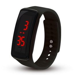 touch bracelet Promo Codes - 2018 Hot New Fashion Sport LED Watches Candy Jelly men women Silicone Rubber Touch Screen Digital Watches Bracelet Wrist watch