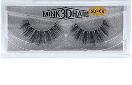 Wholesale real natural hair feathers - Top quality 3D Mink lashes thick real mink hair false eyelashes natural for Beauty Makeup Extension fake eyelashes free shipping
