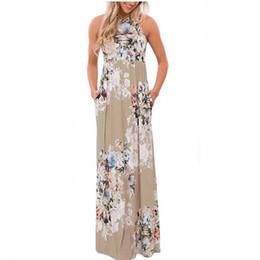 Floral Print Boho Dress Robe d'été Sexy Plissé Maxi Longue Robe 2018 Casual Dress Beachwear Femininos Plus Size LX328 D1891305 ? partir de fabricateur
