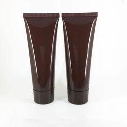 Canada 100MLX50pc brun Doux Tube Doux Pour L'emballage Cosmétique 100G Lotion Crème En Plastique Bouteille Soins de La Peau Crème Squeeze Conteneurs Tube Offre
