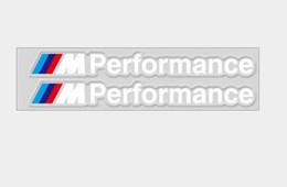 2019 autocollant noir mat Décoration de voiture PVC M Puissance Performance Stickers emblème de voiture Fender emblème autocollants pour BMW série Auto Acc