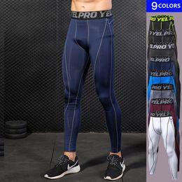 Wholesale Men S Sexy Leggings - Mens Yoga Leggings Fitness Running Pants Men Elastic Sports Trousers Gym Male Sexy Hip Push Up Leggings