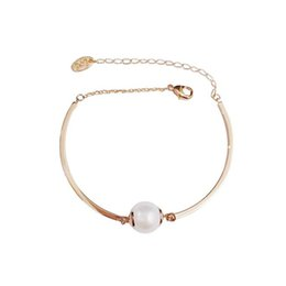 cute bracelet korean fashion Coupons - 2018 Hot New Korean Simple Bracelets Cute Simulated Pearl Pendant Charms Bracelet For Lady Fashion Chain Bangle Jewelry Gifts