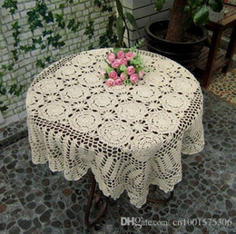 "Wholesale Cotton Square Crochet Tablecloth - 28X28"" ,Square Handmade Crochet Flower Tablecloth 869, Cotton Handmade crochet table topper, shabby chic feel table linen.."