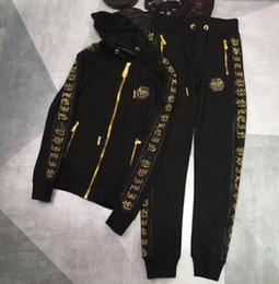 Top 18ss Alemania marca de lujo sudaderas de diseño de moda para hombre patrón impreso chándales para hombres chaqueta de cremallera chándales tamaño M-3XL desde fabricantes